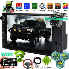 Android 2Din 7 Inch Car Stereo WIFI GPS FM AM MP3 MP5 Player Radio+Backup Camera
