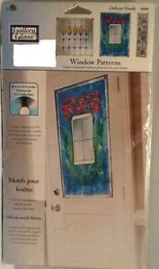 Delicate Florals #16385 PLAID Gallery Glass Window Patterns + DVD NEW Stained