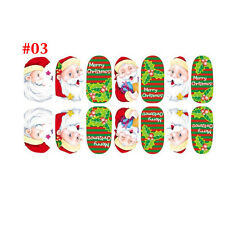 New Christmas Nail Art Stickers 3D Design Manicure Tips Decal Wraps Decorate Diy