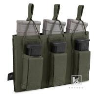 KRYDEX 5.56 & Pistol 9mm Mag Magazine Pouch Triple Open Top MOLLE Ranger Green