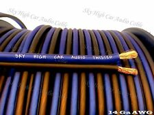 300' feet TRUE 14 Gauge AWG BL/BK Speaker Wire w/ SPOOL Car Home Audio ft