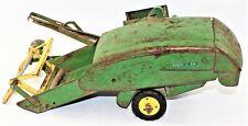 John Deere Vintage Pull Behind Combine Metal Toy USA For Parts Or Restoration