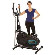 Compact Exercise Elliptical To Loose Fat And Cardio Fitness Heart Pulse Sensors