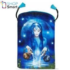 ARCANUM SATIN BAG BLUE PRINTED CARDS LO SCARABEO 160x225 MM NEW