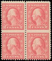 US Scott #499 Mint-NH Blk/4, Blind Perfs - Looks Imperf, Part Perfs Across Lower