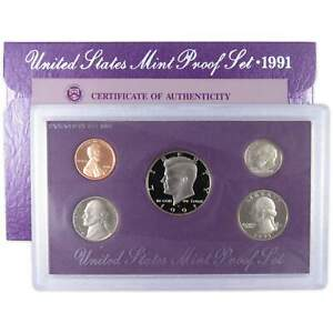 1991 S Proof Set U.S. Mint Original Government Packaging OGP Collectible