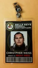Suicide Squad' Id Badge- Belle Reve Christopher Weiss Cosplay Costume Prop