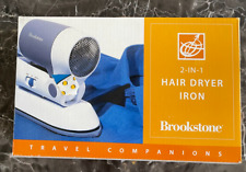 BROOKSTONE Hair Dryer / Iron 2-in-1 Travel Companions Accessories NEW IN BOX