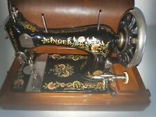 Stunning 1901 model 28  Singer with Ottoman decal Hand Crank sewing machine