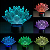 3D illusion Visual Night Light 7 Colors Change LED Desk Lamp Bedroom Home Decor