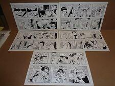 Original Art Daily LOT! Juliet Jones by Frank Bolle 20 Strips! 5x4 (FB#j-QD-005)