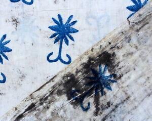 Batik Block Print 100% Cotton Soft Fabric By The Yard Handmade Running Fabric 01