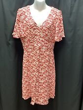 NWT Brooks Brothers Red Fleece Dress Womens 8 Red/White Retail $158