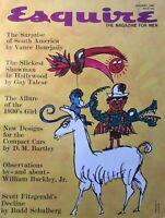 JOE LEVINE / WILLIAM BUCKLEY JR / SCOTT FITZGERALD January 1961 ESQUIRE Magazine