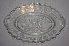 United State of America 1776 Bicentennial 1976 Collector Oval Clear Glass Plate