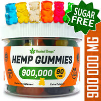 Hemp Gummies for Pain & Anxiety Relief - 90 Gummies with 900,000MG Potency