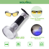 100 LED UV Torch Ultraviolet Flashlight Blacklight Flashlight Waterproof