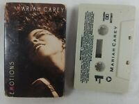 "1991 Mariah Carey ""Emotions"" Audio Cassette Single Columbia Vanishing See Pics!"