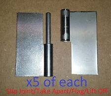 5 Set Slip Joint/Take Apart/Lift Off Hinge 2.5 x 2-1/2 Stainless Steel 1088/89