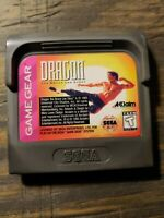 Dragon: The Bruce Lee Story (Sega Game Gear, 1993) Cleaned/Tested - Cart Only