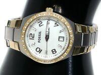 """AM4183 Fossil Blue Women's watch Gold,Silver 28 mm 6.75"""" Quartz (Battery)"""