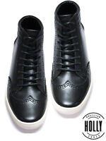 New Men's Casual Sneaker High Top Leather Boot Shoes Style Holly Shoes (STR046)