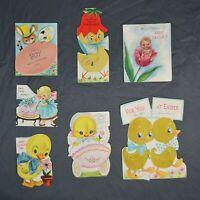 Lot of 7 Vintage New Baby First Easter Greeting Cards Lot
