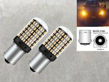 Rear Turn Signal light 1156 BA15S 7506 97 P21W 12821 SMD LED Bulb 6K Amber W1 E