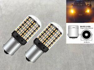 Rear Turn Signal light 1156 BA15S 7506 P21W 1141 SMD LED Bulb Amber W1 JA
