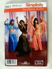 Simplicity 2941 Cosplay SCA Belly Dance Costume Pattern Veil Harem Uncut Sz 6-12
