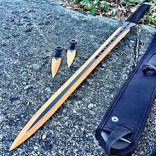 "27"" Ninja Sword Machete Throwing Knife Full Tang Tactical Blade GOLD Katana NEW"
