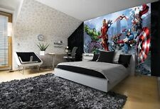Giant wall mural photo wallpaper for boy's room Avengers heroes Hulk Iron man