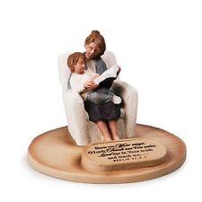 MOTHER & SON Sculpture-Statue Engraved Verse PSALM 25:4-5 Cast Stone-Handpainted