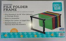 Plastic Hanging File Folder Frame 18 Inch Letter And Legal Size 1 Set