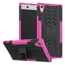 For Sony Xperia XA1 Ultra, XA1, XA2 Case Hybrid Armor Shockproof Kickstand Cover