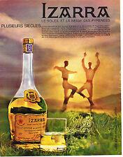 PUBLICITE ADVERTISING 104  1963  IZARRA   liqueur basque
