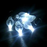 10 Stück helle Mini White Keychain LED Licht Lampe Schlüsselanhänger beste J4U5