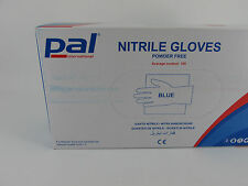 100 x Nitrile Blue Extra Large Powder Free Disposable Gloves Catering Janitorial