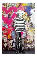 "Mr Brainwash Poster Print Lithograph Original - ""Pablo Picasso"" Warhol Basquiat"