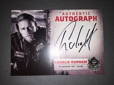 Sons Of Anarchy Trading Cards Autograph Of Charlie Hunnam As Jax Teller.
