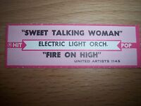 """1 Electric Light Orchestra Sweet Talking Jukebox Title Strips CD 7"""" 45RPM Record"""