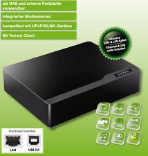 """Chiligreen 8,9cm (3,5"""") Netzwerk LAN Festplattengehäuse NAS/FTP/DHCP/MediaServer"""