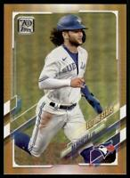 2021 Topps Series 1 Base Gold Foil #310 Bo Bichette - Toronto Blue Jays