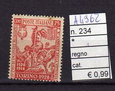 FRANCOBOLLI ITALIA REGNO LINGUELLATI* N°234 (A4962)
