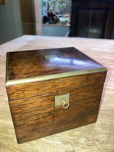 Antique Tea Caddy With Original Key.
