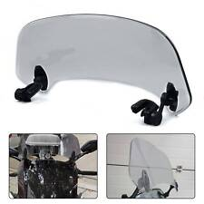 Smoke Motorcycle Adjustable Clip On Windshield Extension Spoiler Wind Deflector