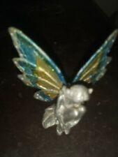 Cute Pewter Fairy Fairies Wings Mystical Magical Girl