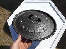 """Rare 1800's Antique Cast Iron No. 13"""" Fischer , Leaf & Co Spider Lid Pot"""