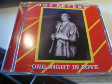 RAR  CD. JOY PETERS. ONE NIGHT IN LOVE. ITALO DISCO.
