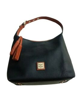 Dooney & Bourke Black Pebble Grain Paige Sac Black Handbag Purse Shoulder Hobo